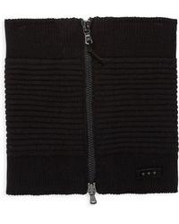 John Varvatos - Ottoman Knitted Zip Neckwarmer - Lyst