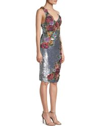 Alice + Olivia - Francie Floral-embroidered Sheath Dress - Lyst