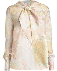 Adriana Iglesias Village Jacquard Silk Blouse - Natural