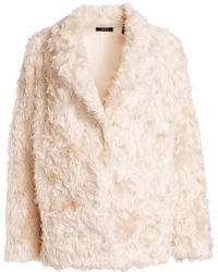 Theory Clairene Faux Fur Teddy Coat - White