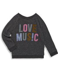 Junk Food - Girl's Love Music Jumper - Lyst
