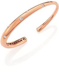 Kwiat - Cobblestone Diamond & 18k Rose Gold Cuff Bracelet - Lyst