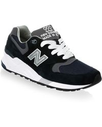 New Balance - 999 Suede Mesh Athletic Sneakers - Lyst