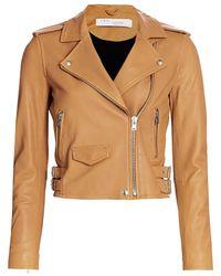 IRO Ashville Leather Moto Jacket - Multicolor