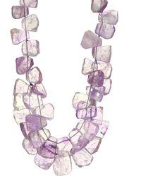 Nest - 22k Golplated Amethyst Cluster Necklace - Lyst