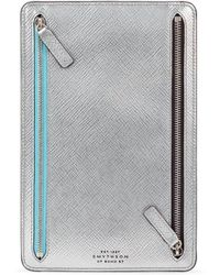 Smythson - Panama Zip Leather Currency Case - Lyst