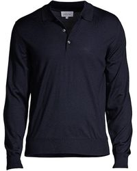 Brioni - Long-sleeve Knit Polo - Lyst