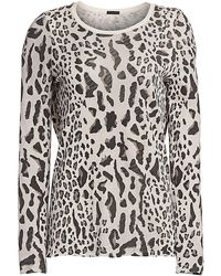 ATM Mixed Leopard Long-sleeve Tee - Multicolor