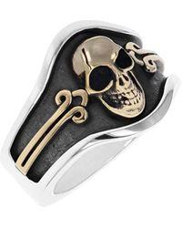 King Baby Studio New Classics Skull Cigar Band Ring - Metallic