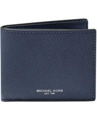 4ea0e40cd321 Michael Kors Harrison Slim Billfold Wallet in Gray for Men - Lyst