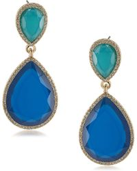 ABS By Allen Schwartz - Double Drop Earrings - Lyst