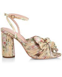 Loeffler Randall Camellia Knotted Floral Sandals - Multicolor