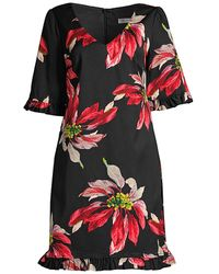 Trina Turk Floral Ruffle-trim Lounge Dress - Multicolor