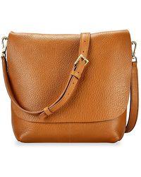 Gigi New York Andi Leather Crossbody Bag - Brown