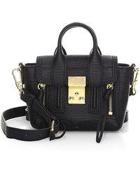 3.1 Phillip Lim Nano Pashli Leather Satchel - Black
