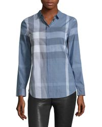 Burberry   Explode Checked Shirt   Lyst