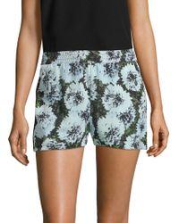 Fleur du Mal - Lace Inset Floral Shorts - Lyst