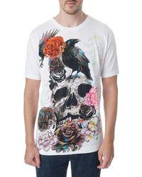 Robert Graham Byrd Classic-fit Graphic T-shirt - White