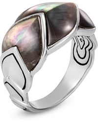 John Hardy - Legends Mother-of-pearl Naga Silver Ring - Lyst
