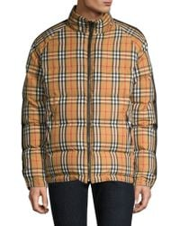 Burberry - House Check Puffer Jacket - Lyst