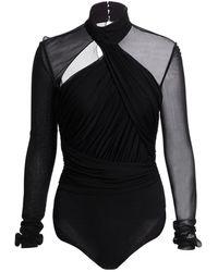 Altuzarra Vox Wrapped Bodysuit - Black
