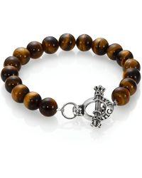 King Baby Studio - Tiger's Eye Beaded Bracelet - Lyst