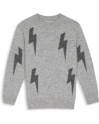 Rails - Girl's Gemma Lightning Bolt Cashmere & Wool Sweater - Lyst