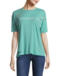 Wildfox - Obviously Yes Sonic Tee - Lyst
