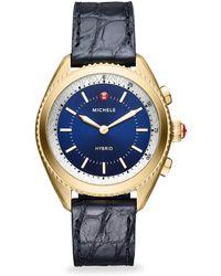 Michele Watches - Leather-strap Hybrid Smartwatch - Lyst