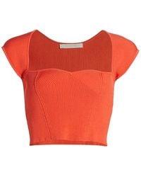 Jonathan Simkhai Abia Compact Rib Cropped T-shirt - Multicolor