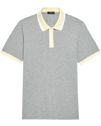 Theory Standard-fit Ringer Ribbed Polo - Gray