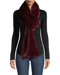 Saks Fifth Avenue Faux-fur Long Scarf - Multicolor