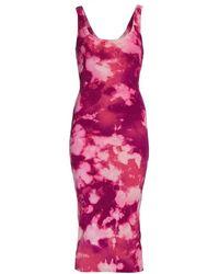 Cotton Citizen The Verona Tie-dyed Midi Dress - Pink
