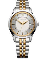 Victorinox - Alliance Two-tone Stainless Steel Bracelet Watch - Lyst