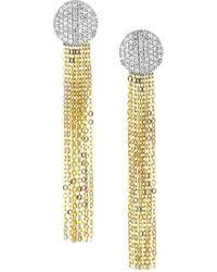 Phillips House Affair 14k Yellow Gold & Diamond Infinity Tassel Earrings - Metallic