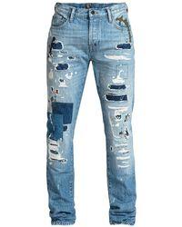 PRPS D-harmon Rip Repair Paint Splatter Jeans - Blue