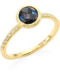 Marco Bicego - Jaipur London Diamond & Blue Topaz Ring - Lyst