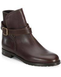 Manolo Blahnik Sulgamba Leather Ankle Boots - Brown