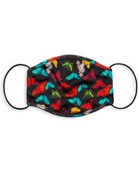 Alice + Olivia Butterfly Face Mask - Red