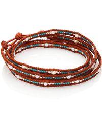 Chan Luu - Japanese Seed Bead & Pearl Wrap Bracelet - Lyst