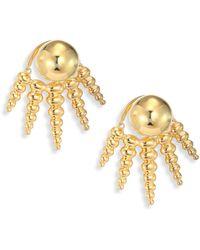 Nikos Koulis - Spectrum 18k Yellow Gold Ear Jacket & Stud Earrings Set - Lyst