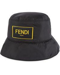 Fendi Logo-patch Bucket Hat - Black