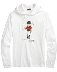 Polo Ralph Lauren Polo Bear Jersey Hooded T-shirt - White