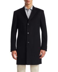 Saks Fifth Avenue - Collection Buttoned Cashmere Topcoat - Lyst