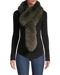 Charlotte Simone Popsicle Fox Fur Stole - Green