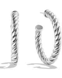 David Yurman   Cable Classics Hoop Earrings   Lyst