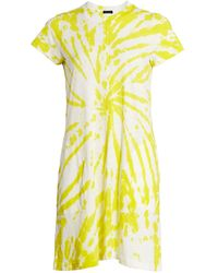 ATM Tie-dye Short Sleeve Dress - Yellow