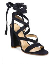 Gianvito Rossi - Denim Lace-up Gladiator Sandals - Lyst