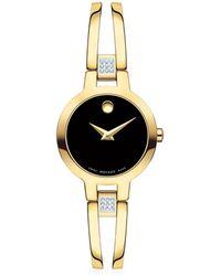 Movado Amorosa Diamond Watch - Metallic