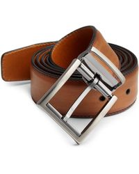 Saks Fifth Avenue - Collection By Magnanni Walter Adjustable Leather Belt - Lyst